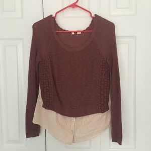 Anthropologie Faux Layered Sweater